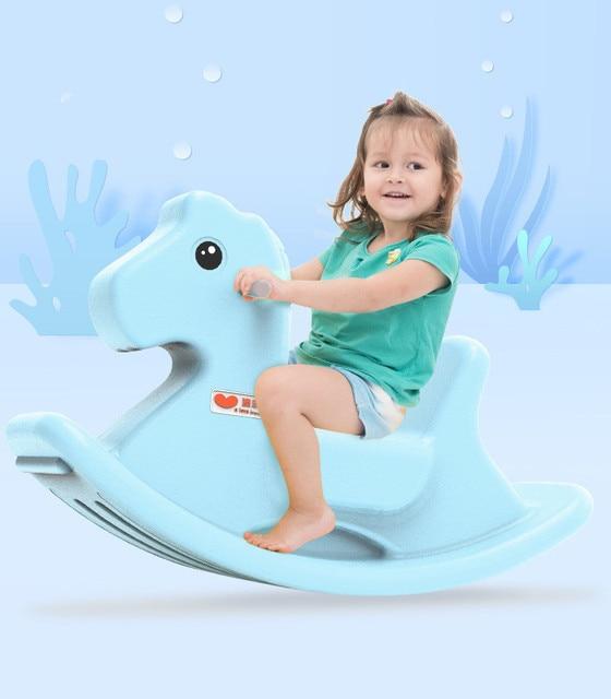 Baby Child Animal Rocking Horse Multifunction Rocking Chair Trojan Toy Baby Game Baby Walker Indoor Girl Gift 1