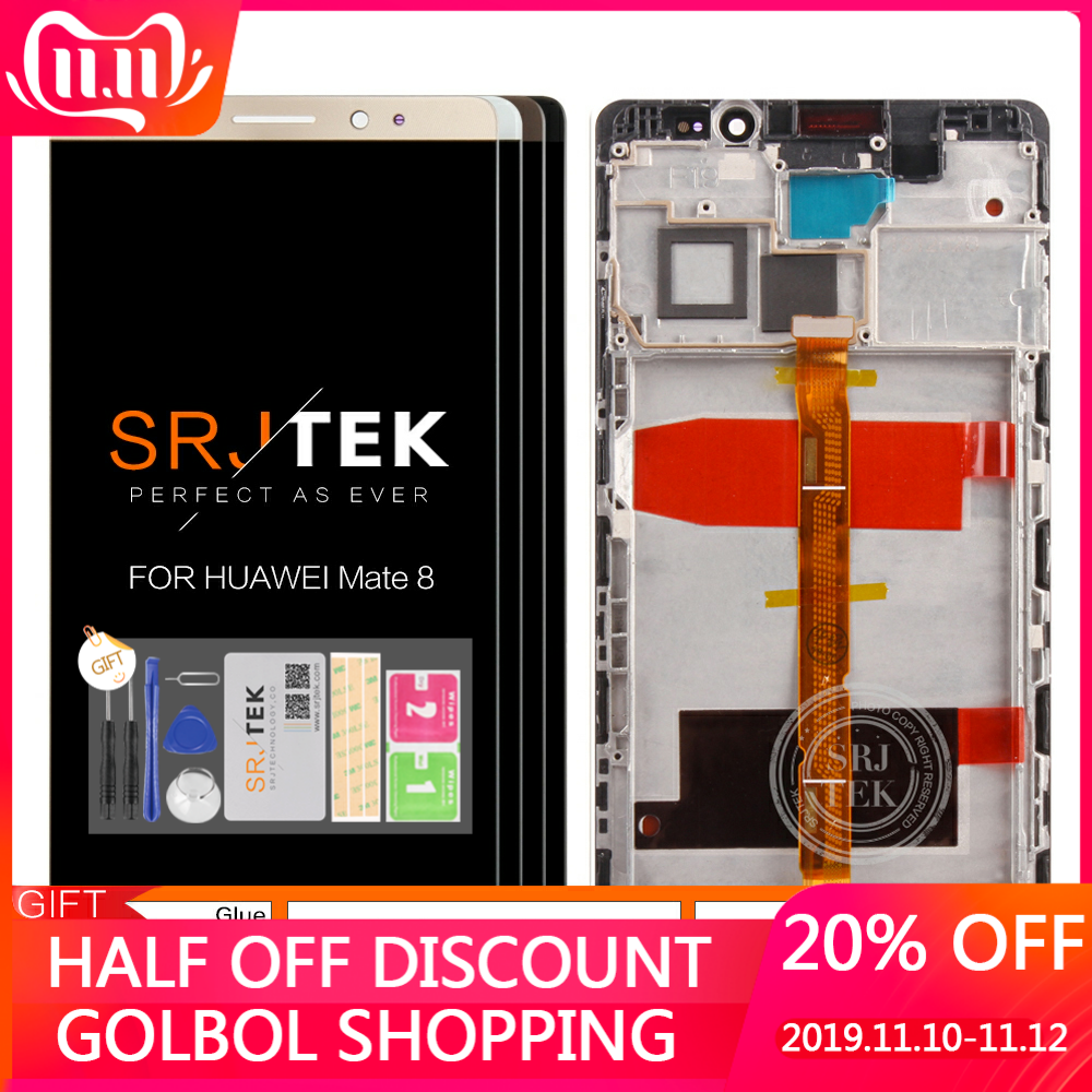For HUAWEI Mate 8 Display Replace LCD Touch Screen With Frame Digitizer Assembly For HUAWEI Mate 8 LCD NXT-L29 NXT-AL10