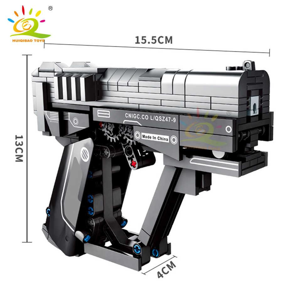 HUIQIBAO 364 Chiếc Technic Lang Thang Trái Đất Tín Hiệu Súng Khối Xây Dựng Bộ Tự Làm Trò Chơi Bắn Súng Gạch Thành Phố Đồ Chơi Dành Cho Trẻ Em Kids