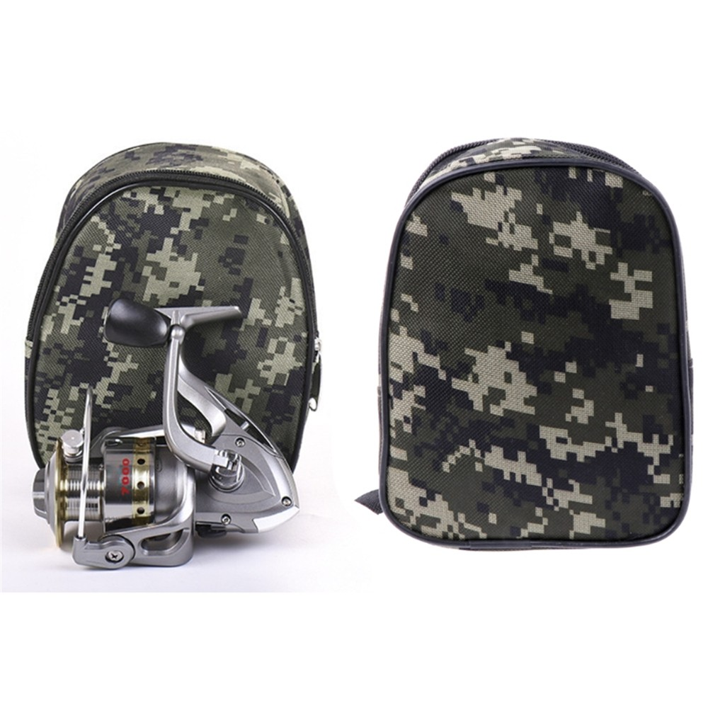 Fishing Reel Cover Padded Mini Bag Pocket Fishing Tackle Pouch Case Outdoor Camping Fishing Storage Bag