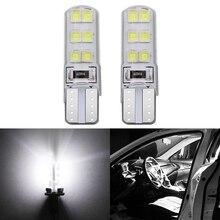 Белый автомобиль 2шт светодиодные T10 W5W и 12 В постоянного тока шины Canbus 12 СМД Силиконовый водонепроницаемый 194 LED Клин света нет ошибка парковка лампы противотуманные фары лампы