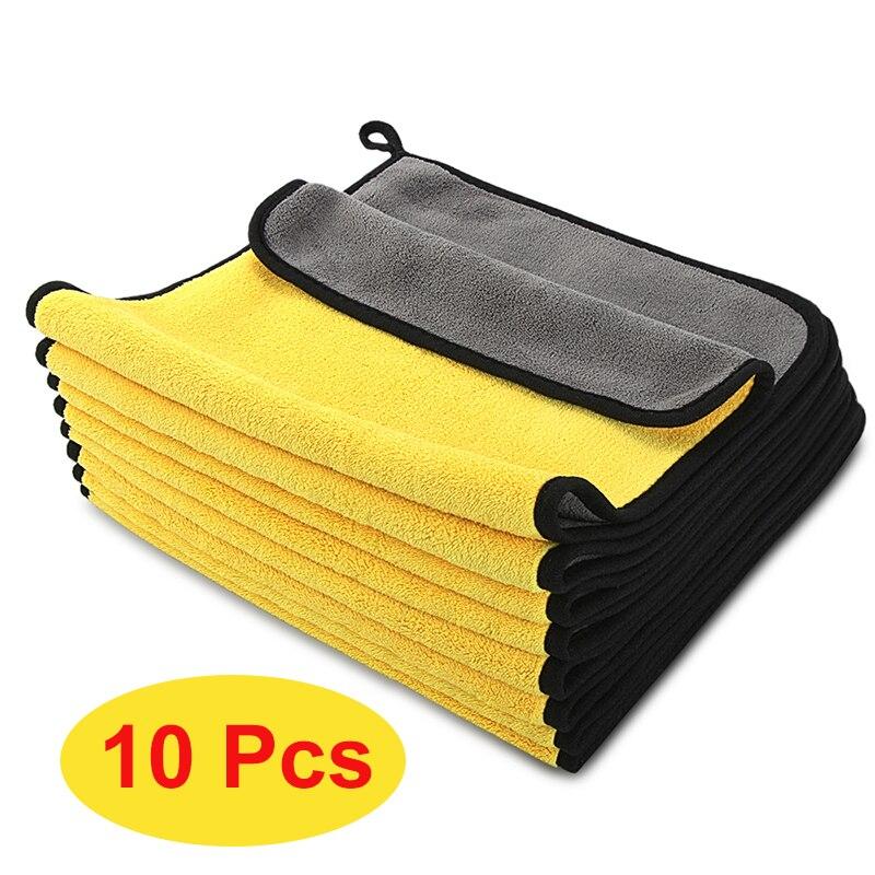 10 шт. Детали автомобиля полотенце из микрофибры коралловый флис абсорбирующее полотенце для мытья автомобиля многофункциональное чистяще...