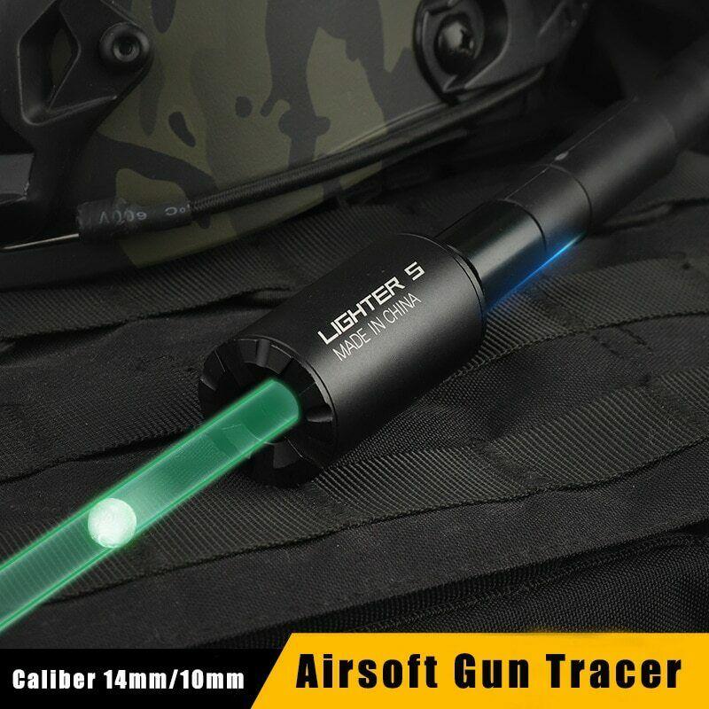 Airsoft Tracer Lighter S Tracer Unit 14mm M14 CW Thread For Pistol Green Lightest Tracer Unit Light Handgun Arsoft Accessories