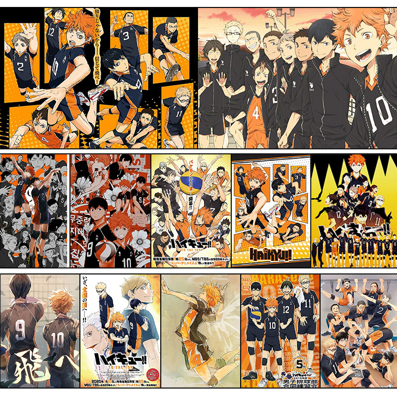 Haikyuu! ! Anime Poster Volleyball Boy Art Painting Room Decoration Wall Stickers Posters Wallpapers Hanging Pictures