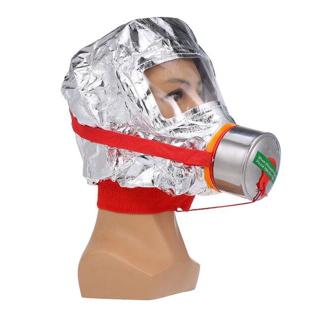 Fire Eacape Gezichtsmasker Zelfreddingstoestellen Respirator Gas Masker Rook Beschermende Gezicht Cover Persoonlijke Vluchtweg Kap