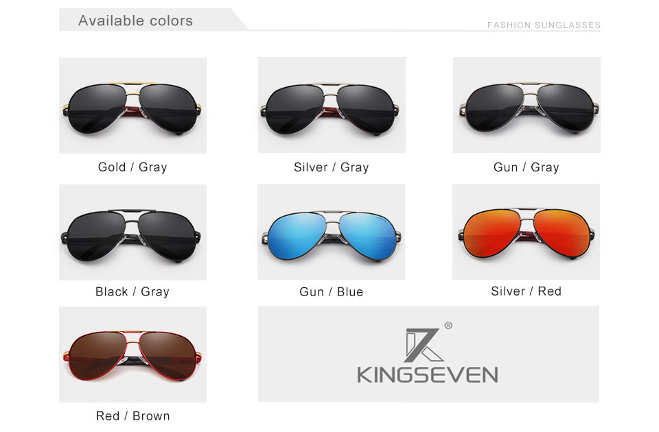 Hc042e622206b4b3684e888d386d6c2cdV - KINGSEVEN Men Vintage Aluminum Polarized Sunglasses Classic Brand Sun glasses Coating Lens Driving Eyewear For Men/Women