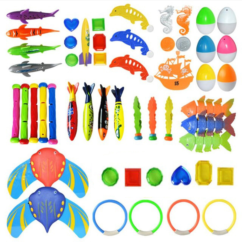 Children Summer Water Shark Rocket Throwing Toy Pool Game Toy Seaweed Grass Swimming Pool Beach Dive Stick Toys For Summer Beach