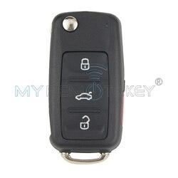 مفتاح ريموت للسيارة قابل للطي لسيارة VW Bettle CC EOS Golf Jetta Passat Tiguan Touareg 2014 2015 2016 4 أزرار مفتاح تشغيل 315 ميجا هيرتز
