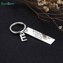 Drive Safe Handsome I Love You Couples Keychain Engraved Car Key Chains Lettering A-Z Keyrings Husband Boyfriend Birthday Gift
