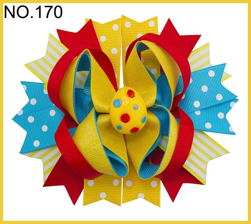50 шт. C Группа пасхальные волосы банты Банни заколки для волос Желе Bean бант пасхальный цыпленок заколки для волос для девочек аксессуары для волос