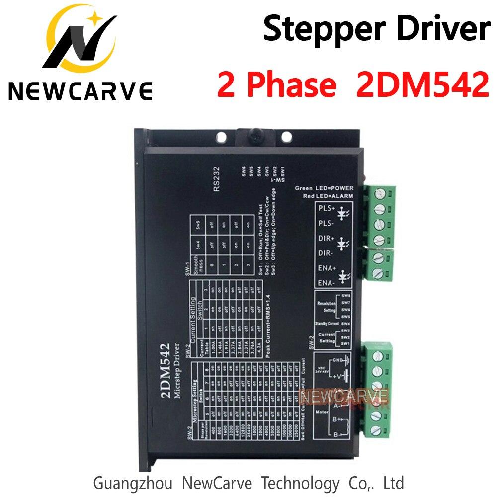Драйвер шагового двигателя 2DM542 2 фазы выход 4A для 57mm4 2 мм Мотор 24-48VDC NEWCARVE