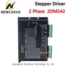 2dm542 2phase output 4a do motorista 2dm542 do motor deslizante para o motor 24-48vdc de 57mm4 2mm newcarve