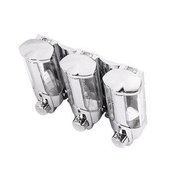 Shampoo Spender Für Die Dusche | 3 Möglichkeiten Küche Home Shampoo Büro Wand Montiert Seife Dispenser Bad Hygienische Dusche Einfach Installieren Praktische Container ABS