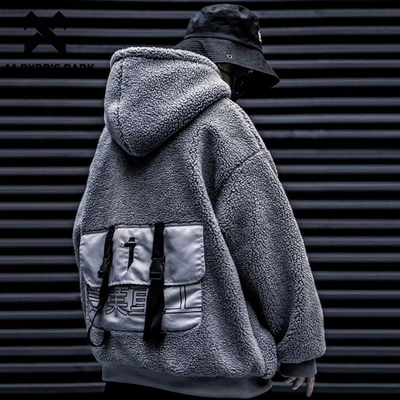 11 BYBB'S DARK Big Pocket Amb Fur Thick Hooded Sweatshirts Mens 2019 Harajuku Streetwear Hip Hop Pullover Casual Cotton Hoodies