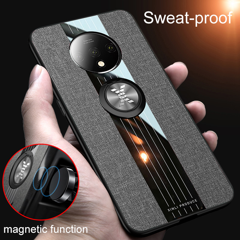 For Oneplus 7T Pro Case Cloth Fabric Magnetic Protect Shockproof Back Cover For OnePlus 6 6T 7 7T Pro Case One Plus 6T Cover