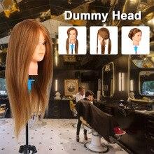 Hairdresser Training Practice Head Mannequin Head Real Hair Cosmetology Doll Head Manikin Head Practice Dummy Head Blonde