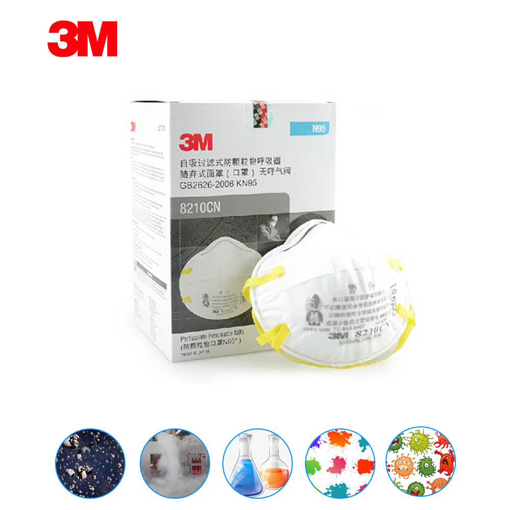 20pcs For 3m 8210 Mouth Allergy Pollen Mask Dust Pollution