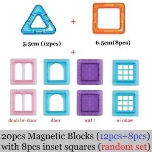Image 3 - Große größe Magnetische Blöcke DIY gebäude einzelnen ziegel designer zubehör konstruieren Magnet modell Pädagogisches spielzeug Für Kinder Kinder