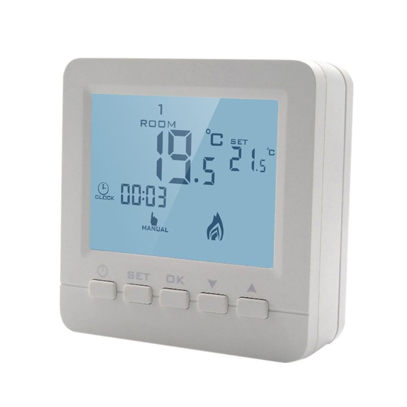 Gas Boiler Heating Temperature Controller Programmable Thermostat Wall Mounted