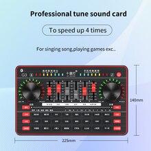 Tarjeta de sonido en vivo para teléfono móvil, interfaz de Audio externa Usb, transmisión en vivo, tarjeta de sonido Webcast, Bluetooth para teléfono y ordenador