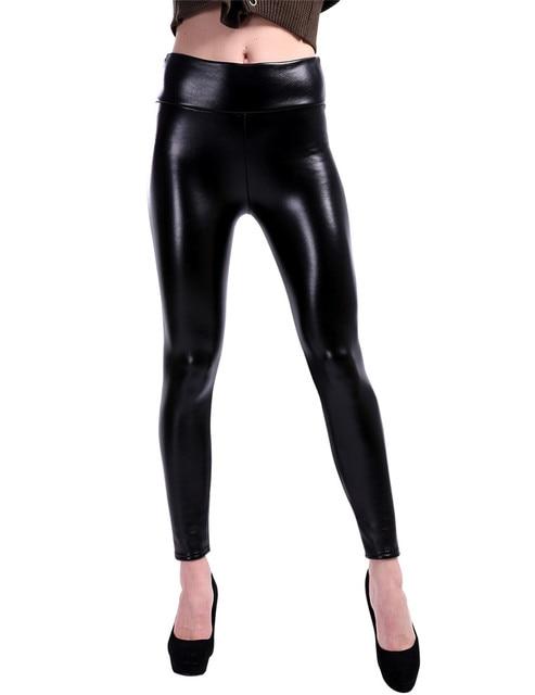 CHRLEISURE S-5XL Women Plus Size Leather Pants 3