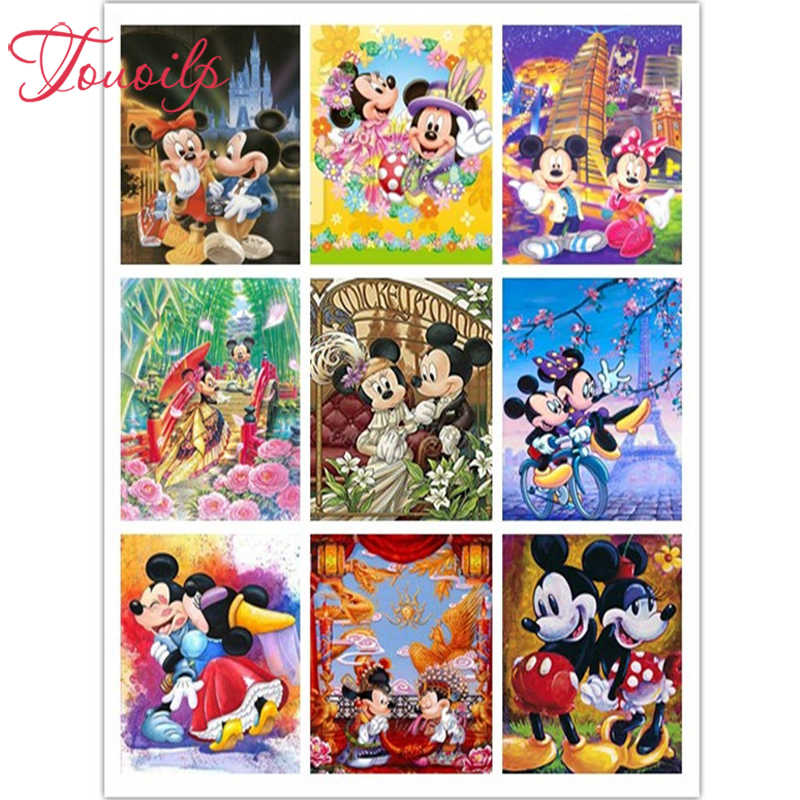 TOUOILP 5D Diy Squane & Ronde diamant schilderij Cartoon mickey crystal Schilderij diamanten decoratieve diy diamant borduurwerk kits