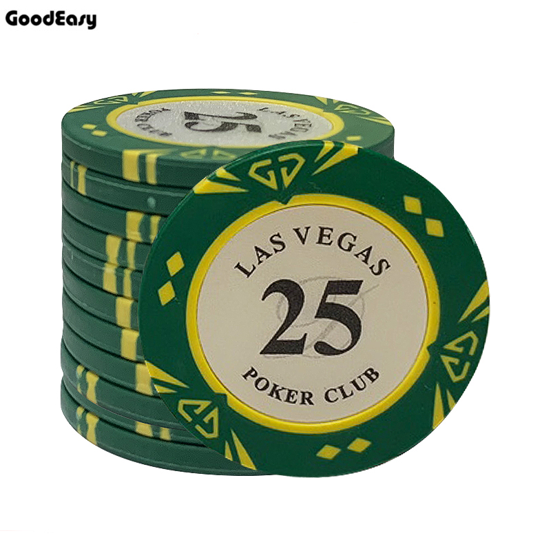 10pcs/lot Las Vegas Clay Poker Chips Casino Custom Poker ChipTexas Hold'em Pokers Chip Dollar Coins Poker Club <font><b>LasVegas</b></font> image