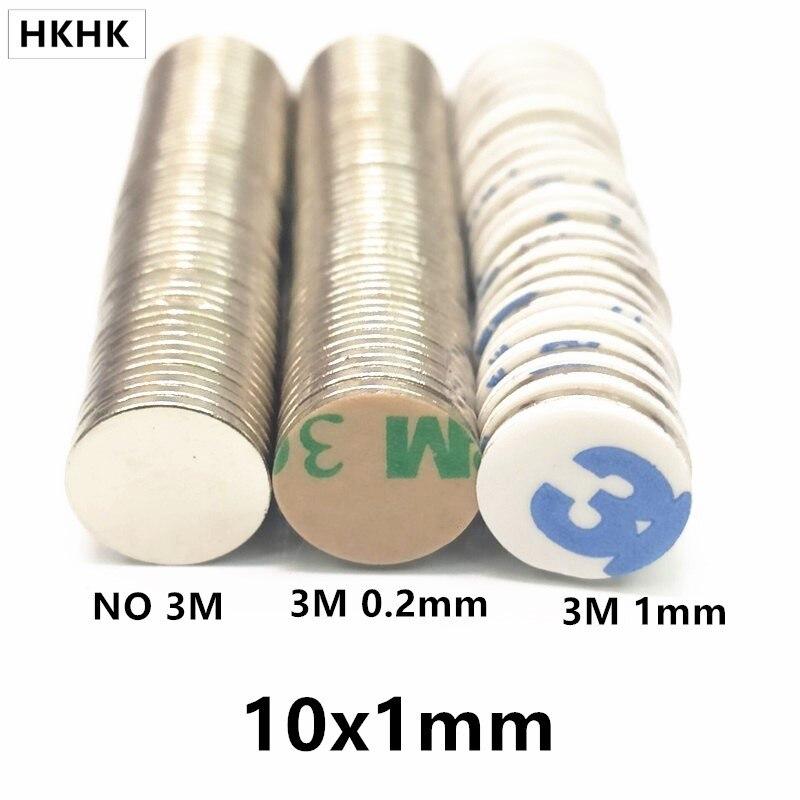 10x1 неодимовый магнит 10 мм x 1 мм N42 NdFeB Круглый супер мощный постоянный магнитный диск imanes 10*1