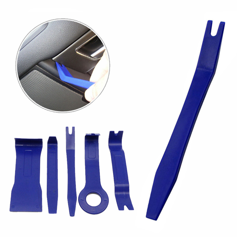 5pcs Car Radio Door Panel Trace Clip Trim Removal Audio Plastic Repair Pry Tool Audio Repair Removal Tools
