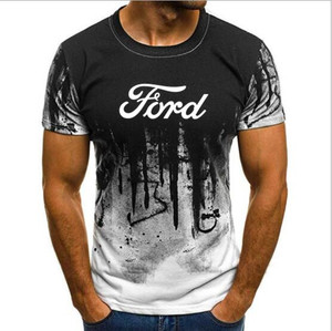 Ford mustang car/Мужская футболка, модная летняя брендовая футболка, высокое качество, S-4XL, брендовая одежда, футболка с коротким рукавом и автомоби...