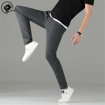 Little Rain 2020 Summer Mens Trousers Thin Breathable Lightweight Casual Pants Men Ultra-thin Small Feet Male Pencil
