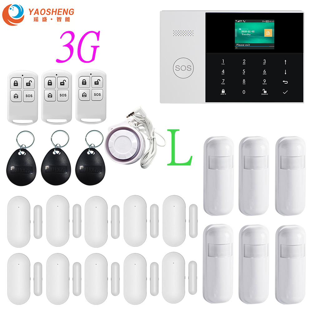 3G Wireless WIFI SIM GPRS SMS Smart Remote APP Control Top Home/Factory/House Security Alarm System Alarm Host For IOS Android