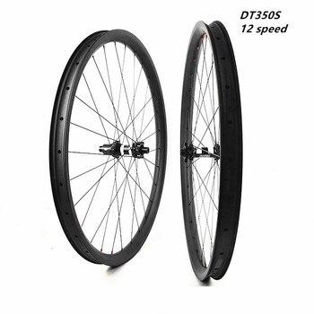29er Углеродные mtb колеса 40x28 мм Асимметричные бескамерные велосипедные колеса DT350S 110x15 148x12 boost 12 скоростные диски mtb колеса pillar1420