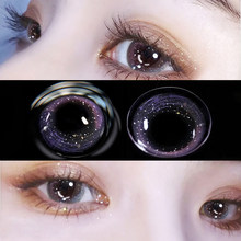 Contact Lenses For Eyes yearly one Pair Myopia Colored Lenses Soft Dioptric Eye Contacts With Color Blue Purple Cosmetic Lens