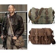 I AM LEGEND – sac militaire en toile et cuir véritable pour homme, sacoche à bandoulière, 2021