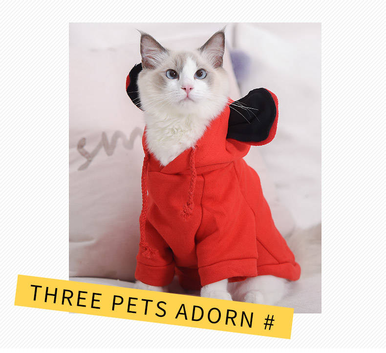 Mickey Hoodies Cat Clothes Security Pet Coats Jacket Cute Puppy Kitten Minnie Little Cat Outfit Chihuahua Yorkshire Clothing 2XL 6