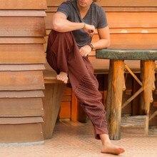 Модные мужские брюки, Длинные повседневные свободные брюки с принтом, большие размеры, брюки для народности, удобные повседневные осенние мужские брюки