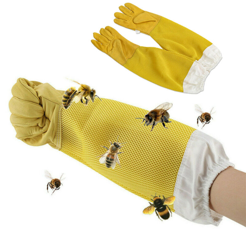 2020 HOT Beekeeping Gloves Goatskin Bee Keeping With Vented Beekeeper Long Sleeves Hight Quality Beekeeping Equipment And Tools