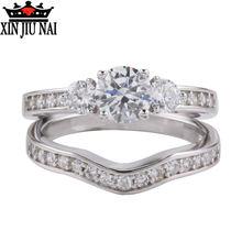 925 пробы Серебряное микро инкрустированное кольцо с бриллиантом