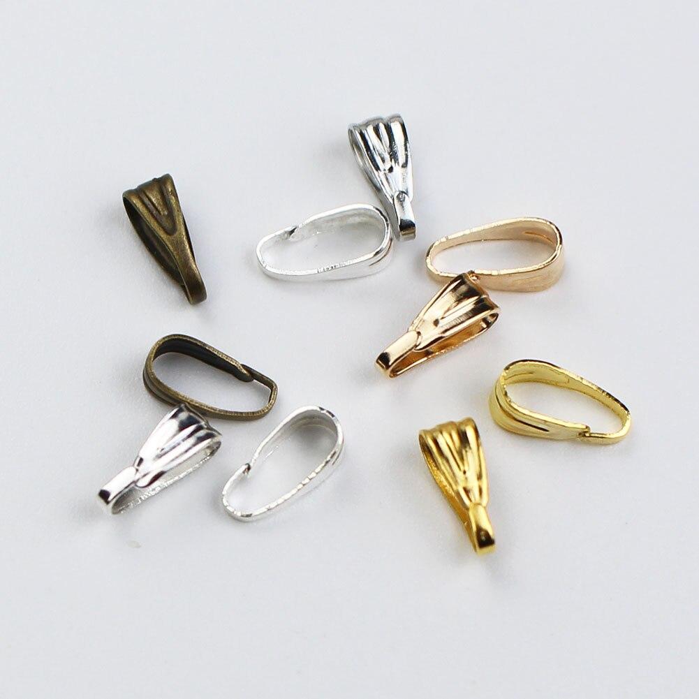 100pcs/lot 7x3mm Pendant Clasps Connectors Bails Clips Connectors For Jewelry Making Findings Supplies DIY Necklaces Accessories