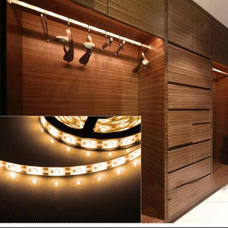 DC 5V LED Strip 24Key Kabel USB Power Fleksibel Lampu Lampu 50CM 1M 2M 3M 4M 5M SMD 2835 Meja Layar Tape TV Cahaya Latar Belakang