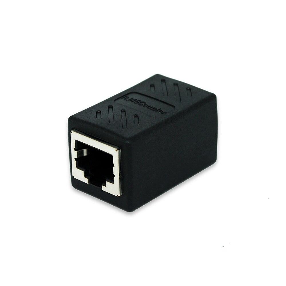 OULLX RJ45 Female To Female Port Network Ethernet LAN Splitter Connector Transfer Head RJ45 Adapter Coupler CAT5 CAT6 Sockt