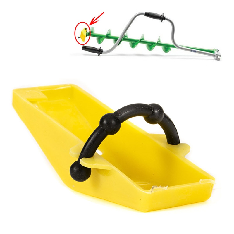 Winter Ice Fishing Essential Tools Hand Spiral Drilling Ice Drill Power Head Cover Protection Accessories
