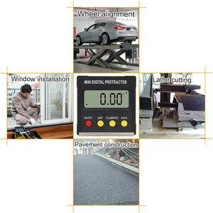 Image 3 - R&D 360 Degree Mini Magnetic Digital Inclinometer Level Box Gauge Angle Meter Finder Protractor Base Measuring Tools