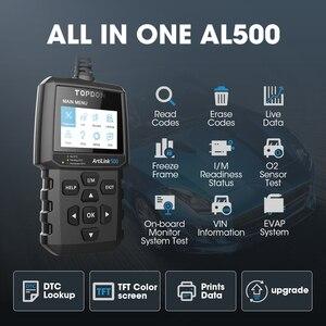 Image 2 - TOPDON AL500 מלא OBD2 סורק רכב OBDII כלי אבחון אוטומטי קוד תקלת קורא קוד לקרוא מנוע לבדוק בדיקת ערפיח תור off IML