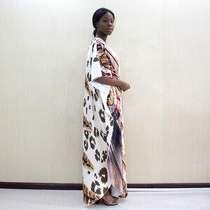 Image 3 - 2019 Dashikiage أحدث الجدد ليوبارد و ريشة نمط طباعة الأفريقية Dashiki زائد حجم النساء اللباس أزياء النساء حزب اللباس