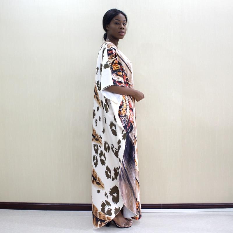 Image 3 - 2019 Dashikiage Latest Arrivals Leopard & Feather Pattern Print African Dashiki Plus Size Women Dress Fashion Women Party DressAfrica Clothing   -
