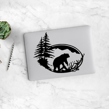 Black Partial Bear Laptop Vinyl Decal Partial Sticker For Sticker Para Laptop Vinyl Decal Laptop Touchpad Partial Stickers фото