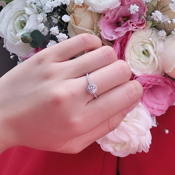Natural Diamonds 10K white gold Engagement Ring 5
