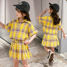 Baby Girls Clothing Sets Summer Fashion Plaid Shirt and Skirt Kids Clothes Suits 3 4 5 6 7 8 9 10 Years Children Girl Outfits girls boutique outfits children clothing set winter 2018 fashion little girls clothing sets baby girl suits warm kids clothes